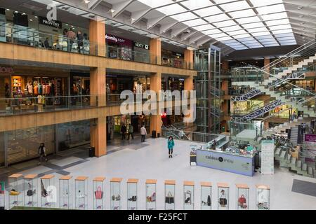 Andorra, Andorra La Vella, capital city of Andorra state, Escaldes Engordany, a mall - Stock Photo