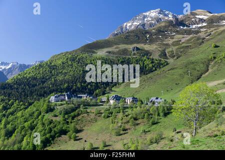 france hautes pyrenees ski resort of peyragudes peyresourde slopes stock photo royalty free. Black Bedroom Furniture Sets. Home Design Ideas