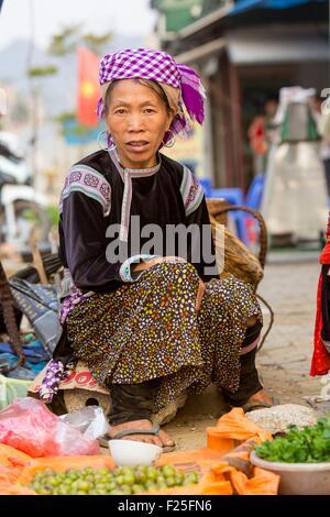 Vietnam, Lai Chau province, woman from ethnic minority - Stock Photo