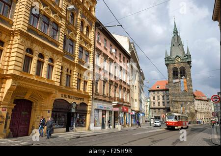 Czech Republic, Prague, the Zvonice Tower in Jindrisska street - Stock Photo