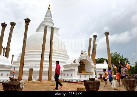 Sri Lanka, Sri Lanka, North Central Province, Anuradhapura archeological site listed as World Heritage by UNESCO, - Stock Photo