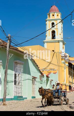 Cuba, Sancti Spiritus Province, Trinidad de Cuba listed as World Heritage by UNESCO, San Francisco de Assis church - Stock Photo
