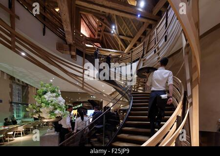 france bas rhin strasbourg new restaurant brasserie les haras stock photo royalty free image. Black Bedroom Furniture Sets. Home Design Ideas