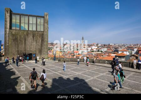 Portugal, North region, Porto, historic centre listed as World Heritage by UNESCO, panoramic view from the cathedral - Stock Photo
