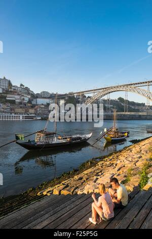 Portugal, North region, Porto, Dom Luis bridge listed as World Heritage by UNESCO, built between 1881 and 1886 by - Stock Photo