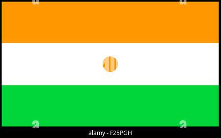 Fahne: Niger/ flag: Niger. - Stock Photo