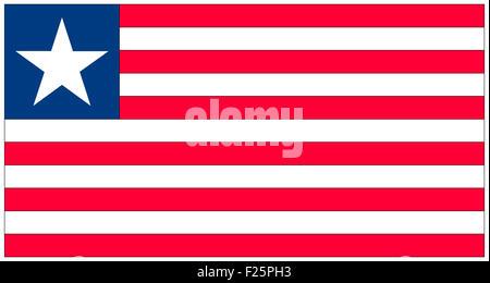 Fahne: Liberia/ flag: Liberia. - Stock Photo