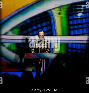 Konzert der Band 'Kraftwerk', Neue Nationalgalerie, 8. Januar 2015, Berlin. - Stock Photo