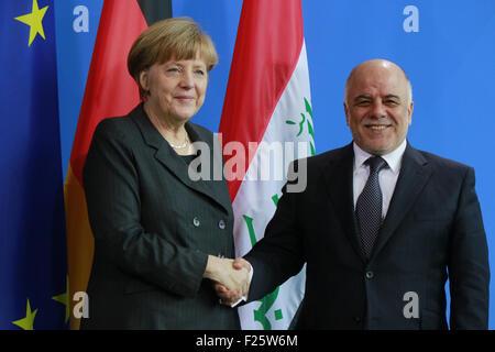 BKin Angela Merkel, Haider al Abadi - Treffen der dt. Bundeskanzlerin mit dem irakischen Premierminister, Bundeskanzleramt, - Stock Photo