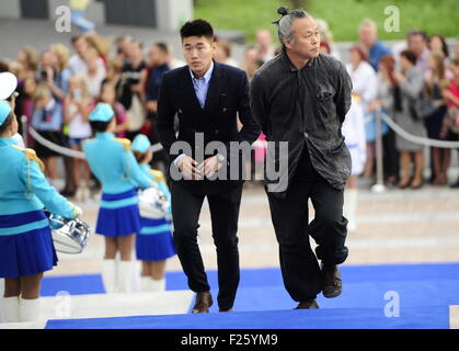 Vladivostok, Russia. 12th Sep, 2015. South Korean filmmaker Kim Ki-duk (R) at the opening ceremony for the 13th - Stock Photo