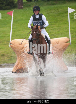 Blair Atholl, Perthshire, UK. 12th Sep, 2015. Michael Jung [GER] riding FischerTakinou AA in action during the cross - Stock Photo