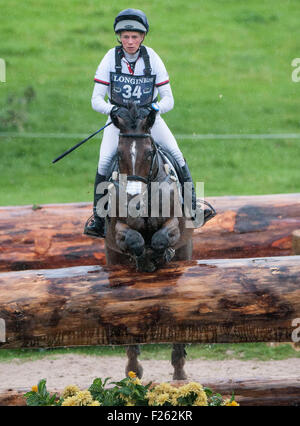 Blair Atholl, Perthshire, UK. 12th Sep, 2015. Izzy Taylor [GBR] riding KBIS Briarlands Matilda in action during - Stock Photo