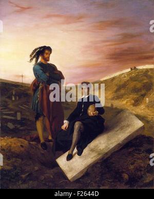 Eugène Delacroix - Hamlet et Horacio au Cimetière - Stock Photo