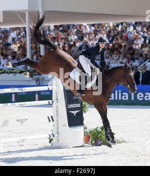 Rome, Italy. 12th Sep, 2015. Longines Global Champions Tour , Stadio dei Marmi, Rome, Italy. 9/12/15 Credit:  Stephen - Stock Photo