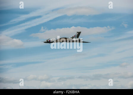 Last Flying Vulcan Bomber XH558 at RIAT RAF Fairford 2015 - Stock Photo