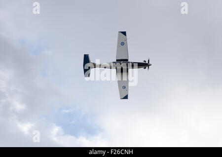 Athens, Greece. 12th Sep, 2015. A Haf T-6Texan II Haf performs during the first day of Athens Flying Week Airshow - Stock Photo