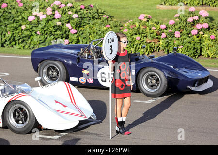 Goodwood, Sussex, UK. 12th Sep, 2015. Action from the Goodwood Revival, Chichester, West Sussex.  The Goodwood Revival - Stock Photo