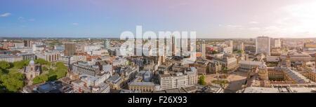 A cityscape of Birmingham city centre, England. - Stock Photo