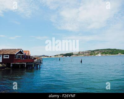Fjallbacka Harbour Sweden - Stock Photo