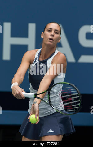 Flavvia Pennetta (ITA) winner during the Women's Final at the  2015 US Open Tennis - Stock Photo