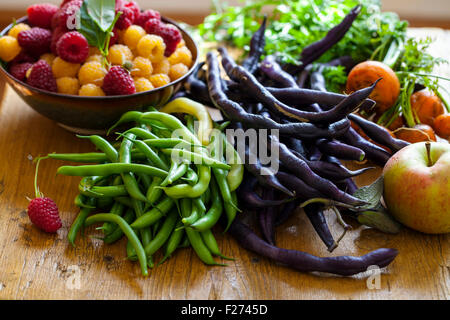 Selection of fruit an vegetable - Stock Photo
