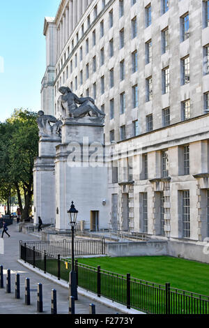 The Ministry of Defence civil service government building in Horse Guards Avenue London England UK - Stock Photo