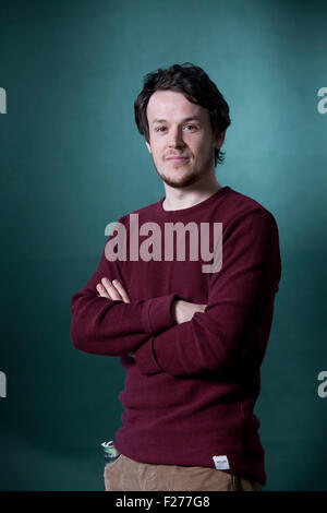 Niall Campbell, the Scottish poet, at the Edinburgh International Book Festival 2015. Edinburgh, Scotland. 22nd - Stock Photo