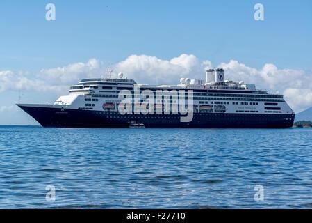 Holland America's cruise ship Amsterdam anchored in Sitka, Alaska. - Stock Photo