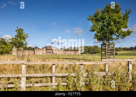 Wentworth Woodhouse, the largest house in private ownership in Britain, near Rotherham, South Yorkshire, England. - Stock Photo