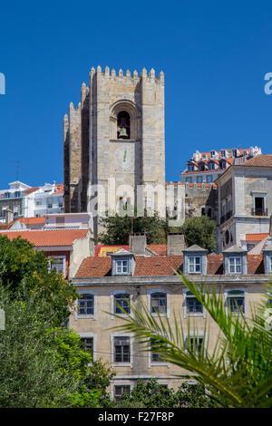 Lisbon Cathedral, Se de Lisboa, Lisbon, Portugal - Stock Photo