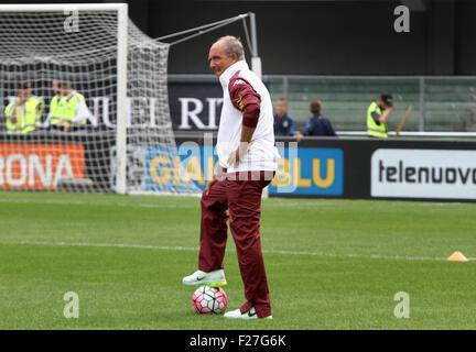 ITALY, Verona: Torino's Head Coach Giampiero Ventura looks during the Italian Serie A football match between Hellas - Stock Photo