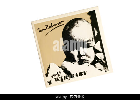 War Baby was issued as a single by Tom Robinson in 1983. - Stock Photo
