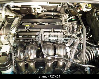 Complex engine of modern car interior view Stock Photo: 33947878 - Alamy