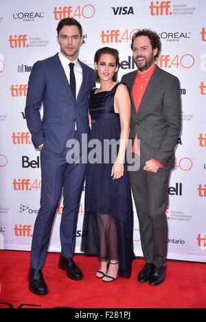 Toronto, Canada. 13th Sep, 2015. Nicholas Hoult, Kristen Stewart, Drake Doremus at arrivals for EQUALS Premiere - Stock Photo