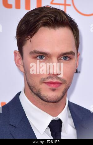 Toronto, Canada. 13th Sep, 2015. Nicholas Hoult at arrivals for EQUALS Premiere at Toronto International Film Festival - Stock Photo