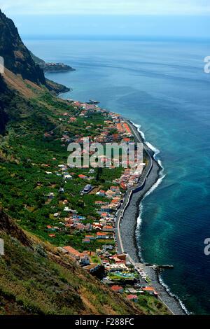 View of Paul do Mar, West Coast, Madeira, Portugal - Stock Photo