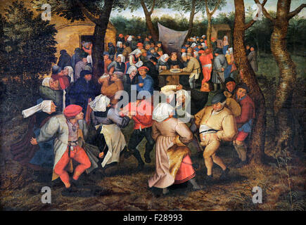 The peasant wedding 1600-1625  by Pieter Brueghel The Younger 1564-1638 - Stock Photo