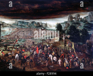 The Crucifixion 1600-1610 by Pieter Brueghel The Younger 1564-1638 - Stock Photo