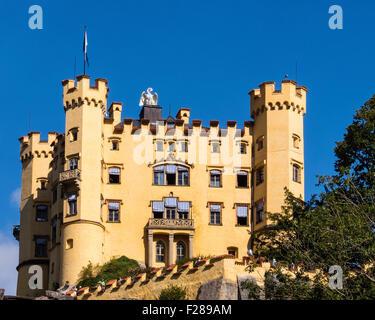 Hohenschwangau Castle, Schloss is a 19th century palace of King Maximilian II in Schwangau, Bavaria, Germany - Stock Photo