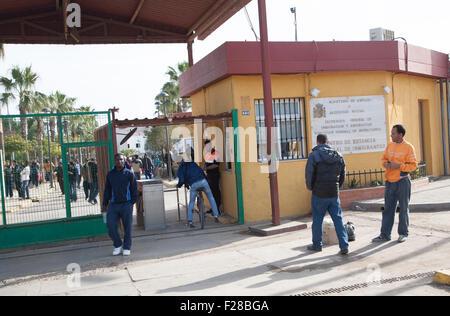 Centro de Estancia Temporal de Inmigrantes, centre for temporary immigrants, Melilla, Spain, north Africa - Stock Photo