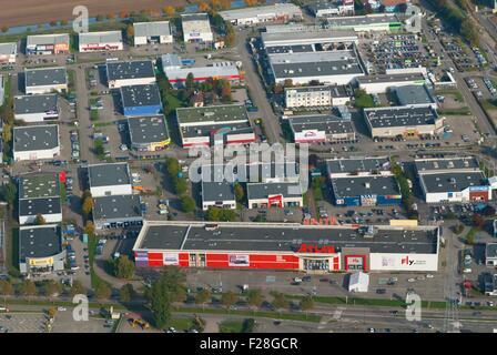 France, Bas Rhin (67), Vendenheim, Commercial area (aerial view)  // Bas Rhin (67), Vendenheim, Zone commerciale - Stock Photo