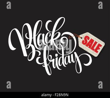 Black Friday Sale Calligraphic Design. Vector illustration - Stock Photo