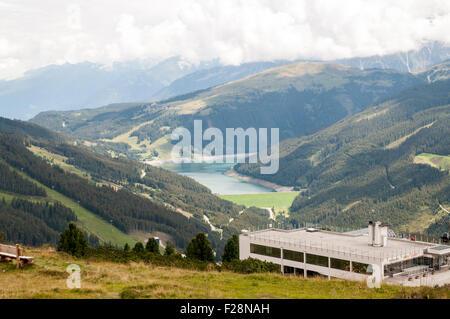 Zillertal Arena visitors centre on Isskogel mountain peak near Gerlos, Tyrol, Austria - Stock Photo