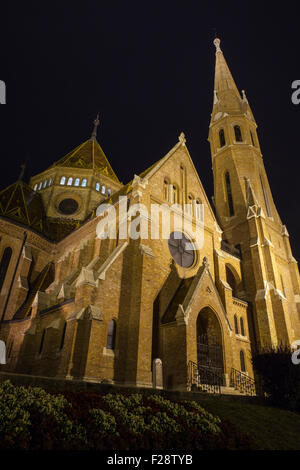 A view of the Szilagyi Dezso Square Reformed Church in Budapest, Hungary. - Stock Photo