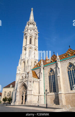 The magnificent Matthias Church in Budapest, Hungary. - Stock Photo