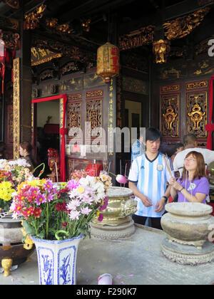 Cheng Hoon Teng Buddhist Temple, Melaka (Malacca), Malaysia, Asia - Stock Photo