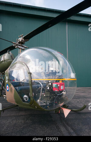 Front View Of A british Army Agusta Bell Sioux AH Mk1 Helicopter - Stock Photo
