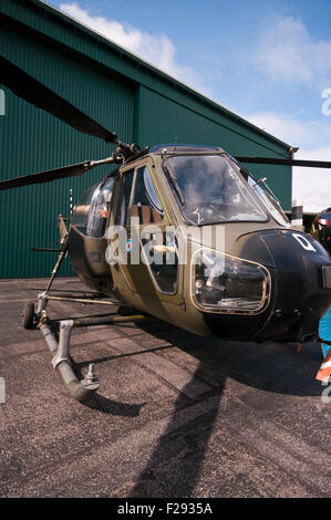 British Army Westland Scout AH MK1 Helicopter - Stock Photo