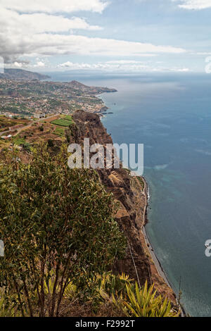A view from Cabo Girão, Madeira, reputedly (and debatably) Europe's second highest sea cliff 580 metres above sea level