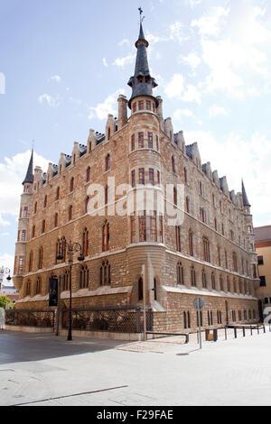 Botines house in Leon - Spain - Stock Photo
